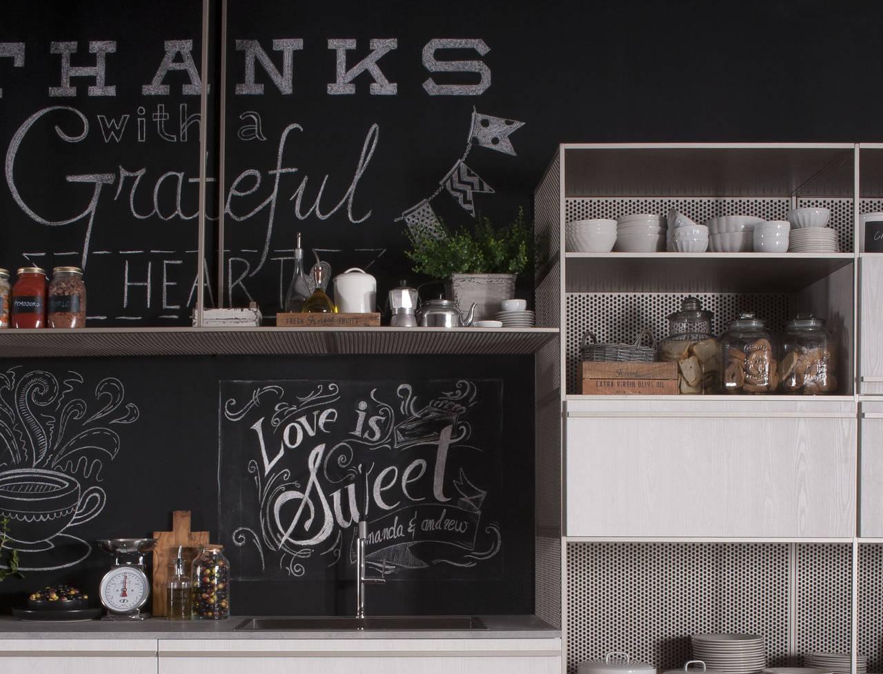Vernice Lavagna Magnetica Colorata metti una lavagna in cucina | ambiente cucina