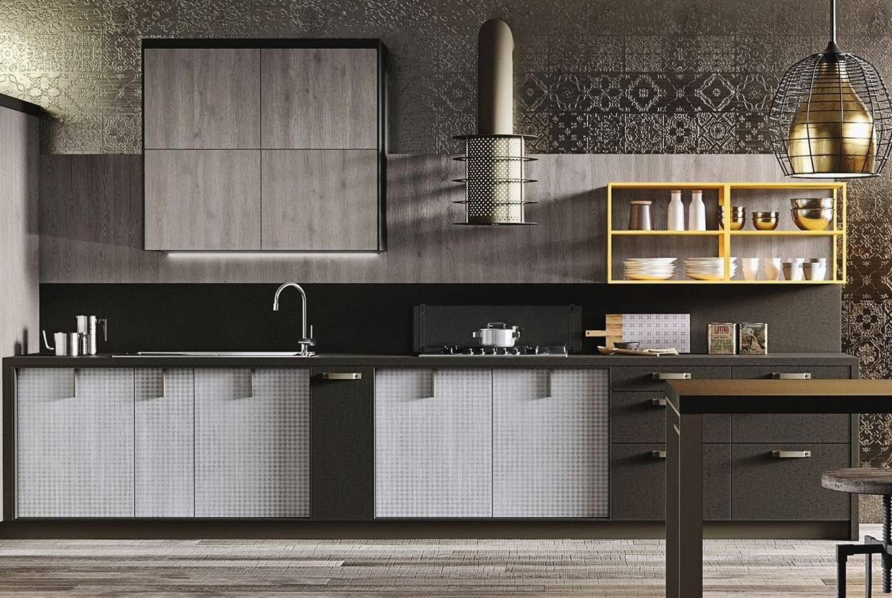 Ante cucina effetto cemento foto della cucina ego di abimis