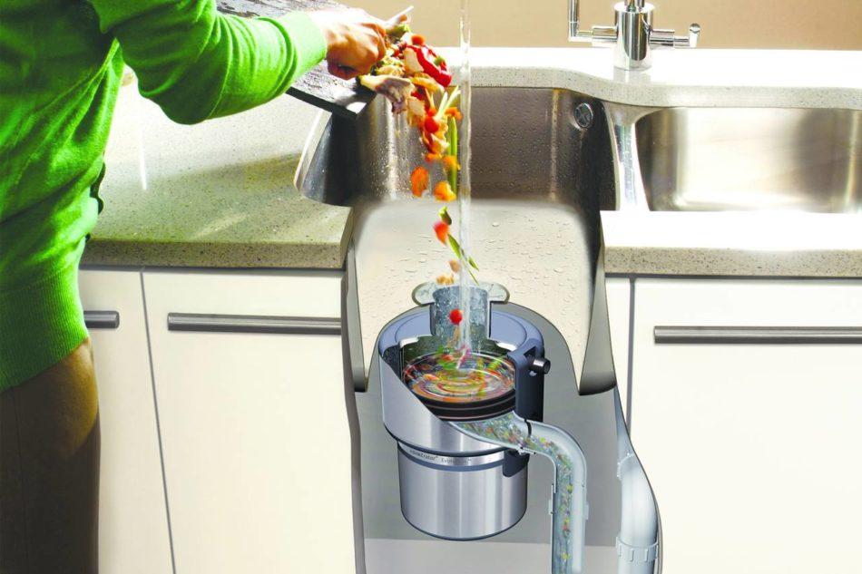 Con il dissipatore di rifiuti è possibile eliminare i rifiuti alimentari con estrema facilità riducendo l'impatto sull'ambiente