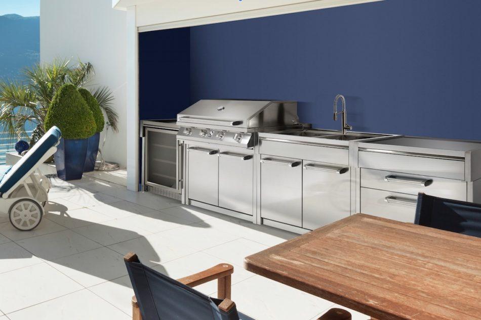 Cucina da giardino design cucina moderna in acciaio inox in laminato compatta with cucina da - Steel cucine prezzi ...