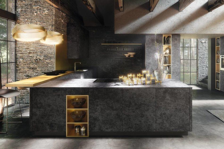 Gres e pietra hi tech per cucine dalle performance for Aziende di mobili