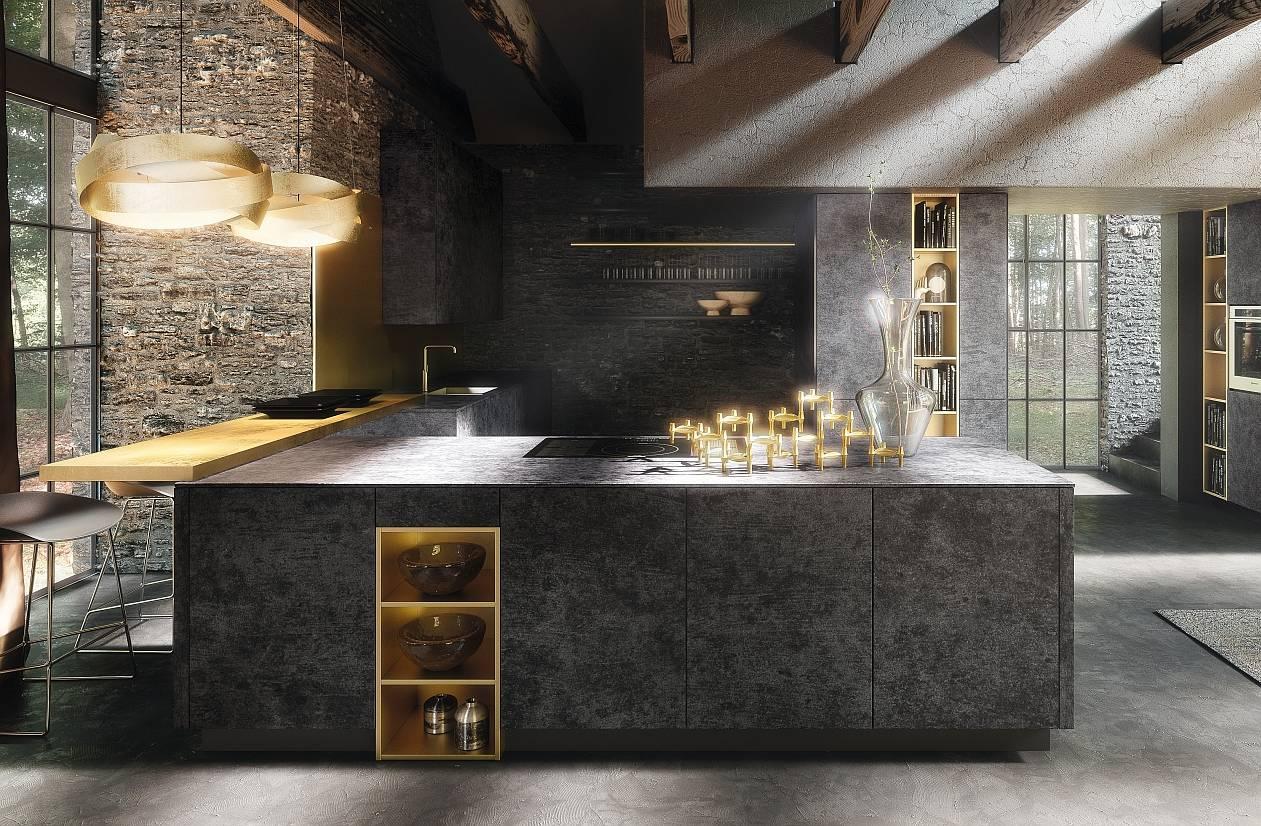 Gres e pietra hi tech per cucine dalle performance for Aziende cucine design