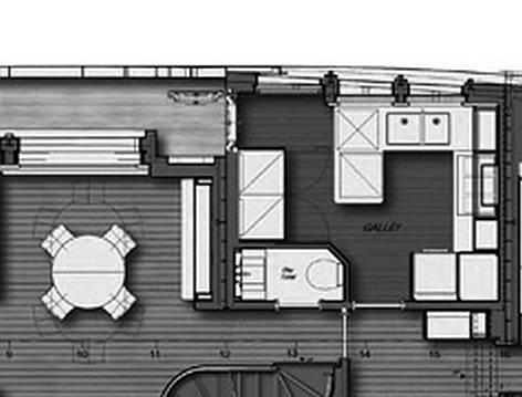 YACHT MY BABBO_pianta Main Deck_ zona pranzo e cucina