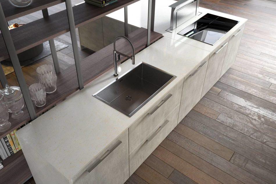 La bellezza e la forza delle cucine con top in quarzo for Piano okite