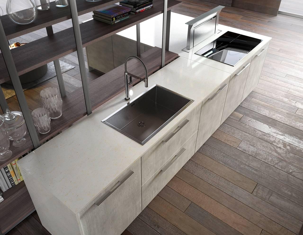 Cucina Con Piano In Quarzo.La Bellezza E La Forza Delle Cucine Con Top In Quarzo