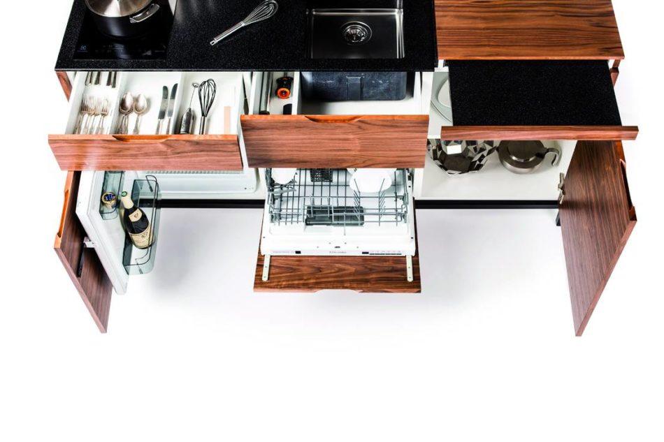 Cucine in formato compatto creative e mini per piccoli spazi - Dimensioni minime cucina ...