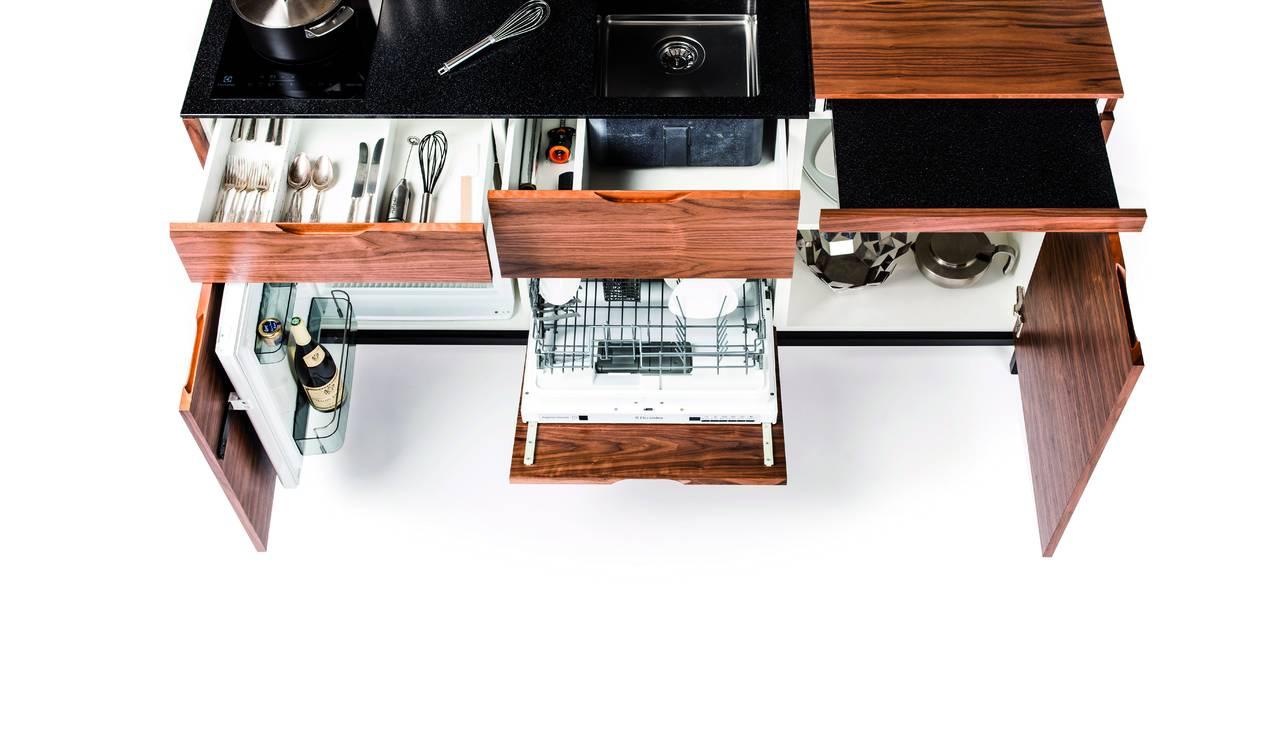 Cucine in formato compatto creative e mini per piccoli spazi - Dimensioni minime cucina bar ...