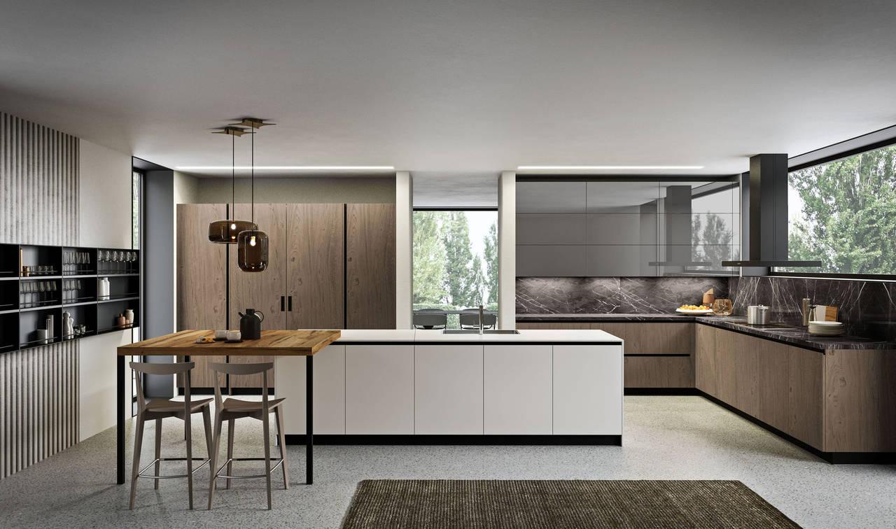 Lab13 protagonista del nuovo store milanese di aran cucine - Cucine immagini moderne ...