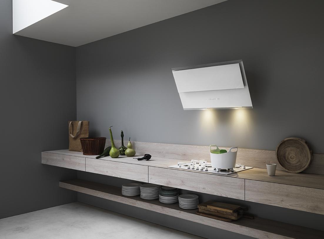 Vetro bianco o nero per elettrodomestici a incasso for Cappa cucina design