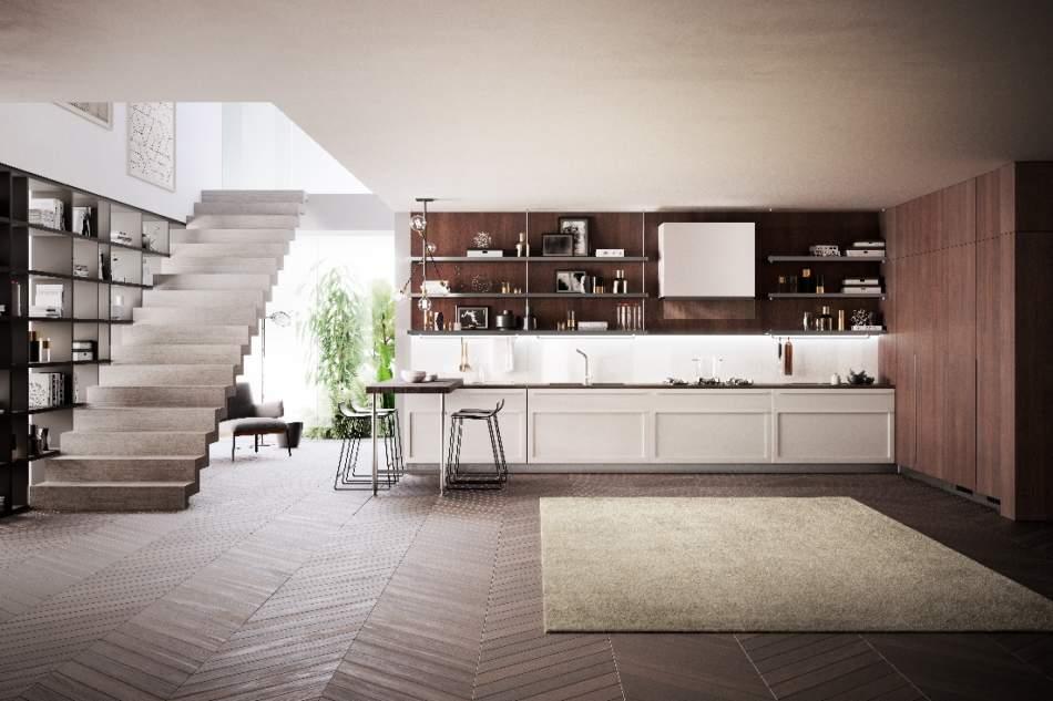 Carattere, di Scavolini, la cucina con ante a telaio dallo stile raffinato