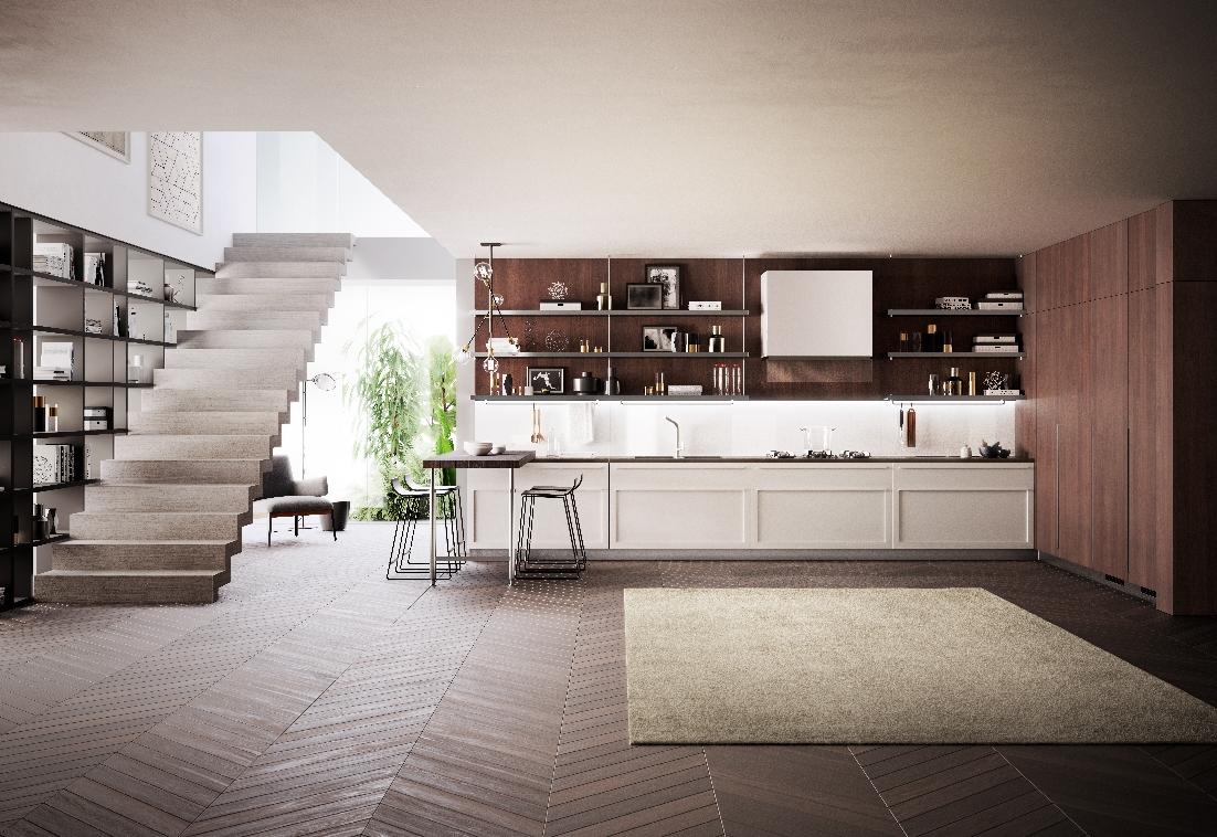 Carattere di scavolini la cucina con ante a telaio dallo stile raffinato ambiente cucina - Cucine di design ...