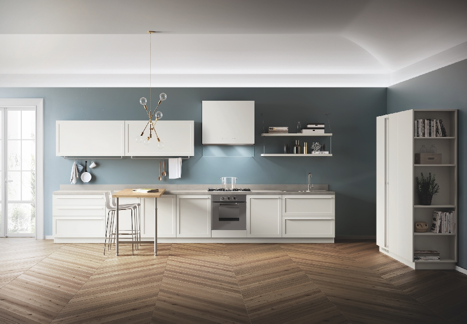 Carattere, di Scavolini, la cucina con ante a telaio dallo stile ...