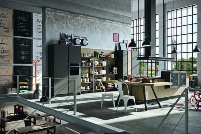 Astra Cucine, i nuovi trend Industrial e Contemporary