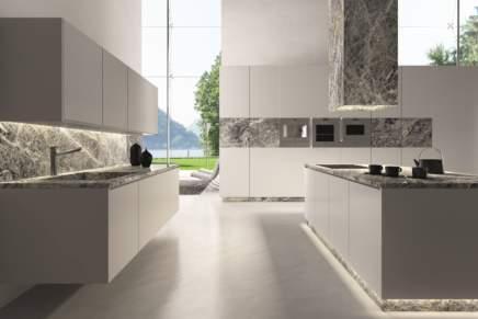Quartzite Cielo Antolini, bellezza naturale per uno spazio cucina contemporaneo