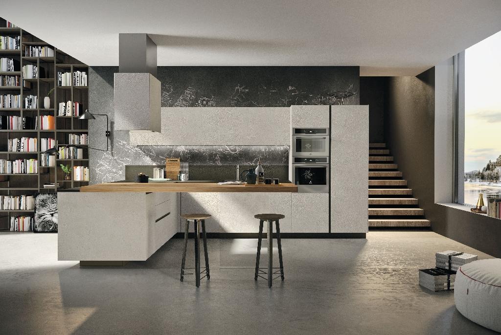 La vocazione per il living della cucina way ambiente cucina - Cucine e living ...