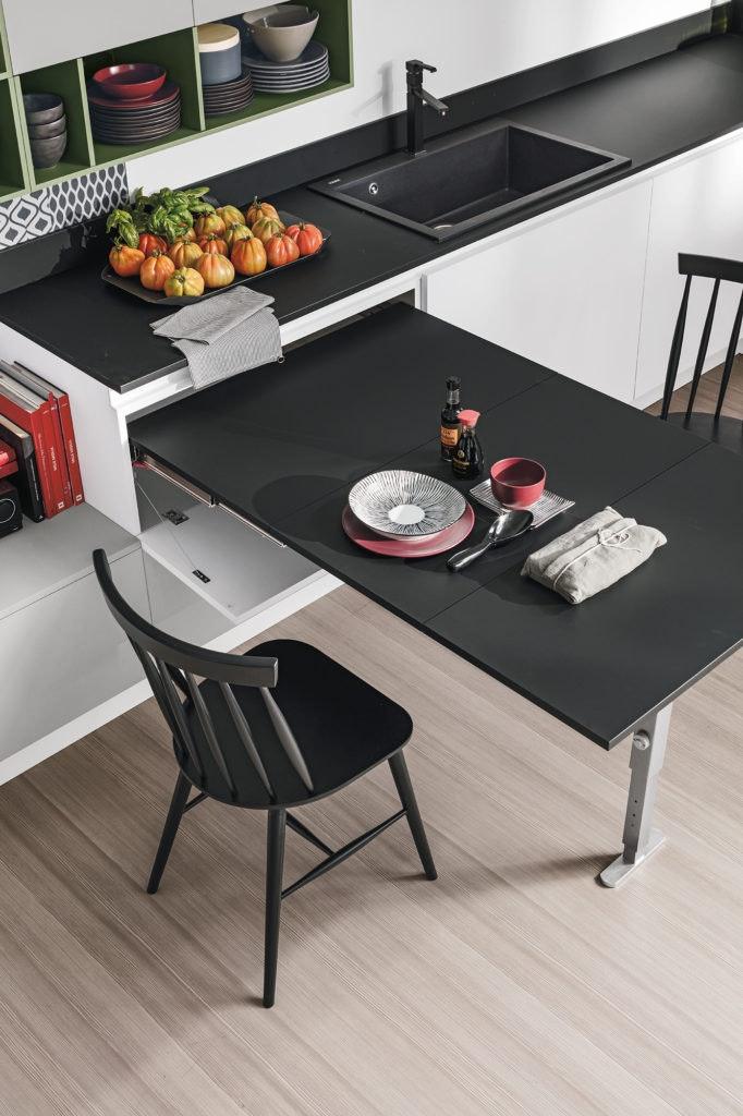 Tavoli trasformisti e salvaspazio ambiente cucina - Cucina tavolo estraibile ...