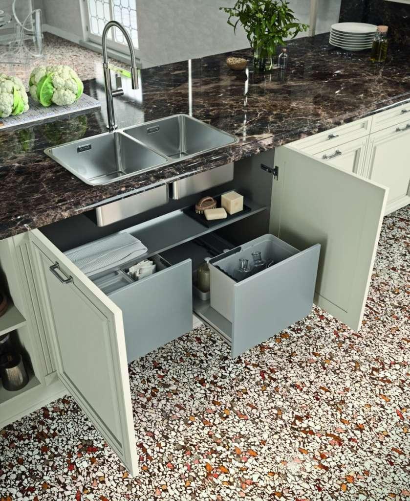 Pattumiera Per Cestone Sottolavello cassetti e cestoni ad alte prestazioni   ambiente cucina