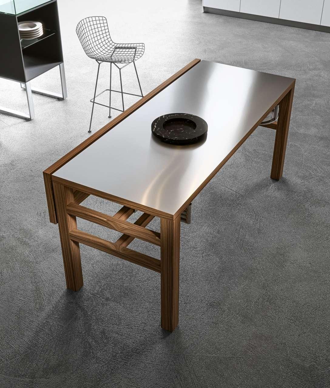 Piano Di Lavoro A Ribalta due volte funzionale il tavolo bis, design m. hasuike per