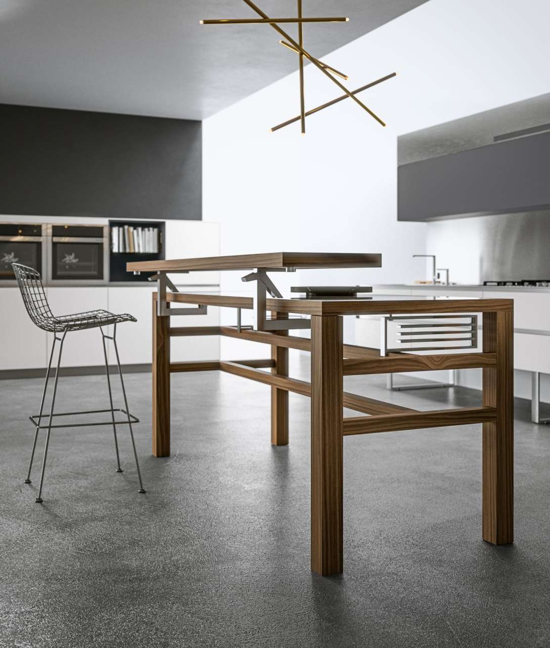 Due volte funzionale il tavolo Bis, design M. Hasuike per ...