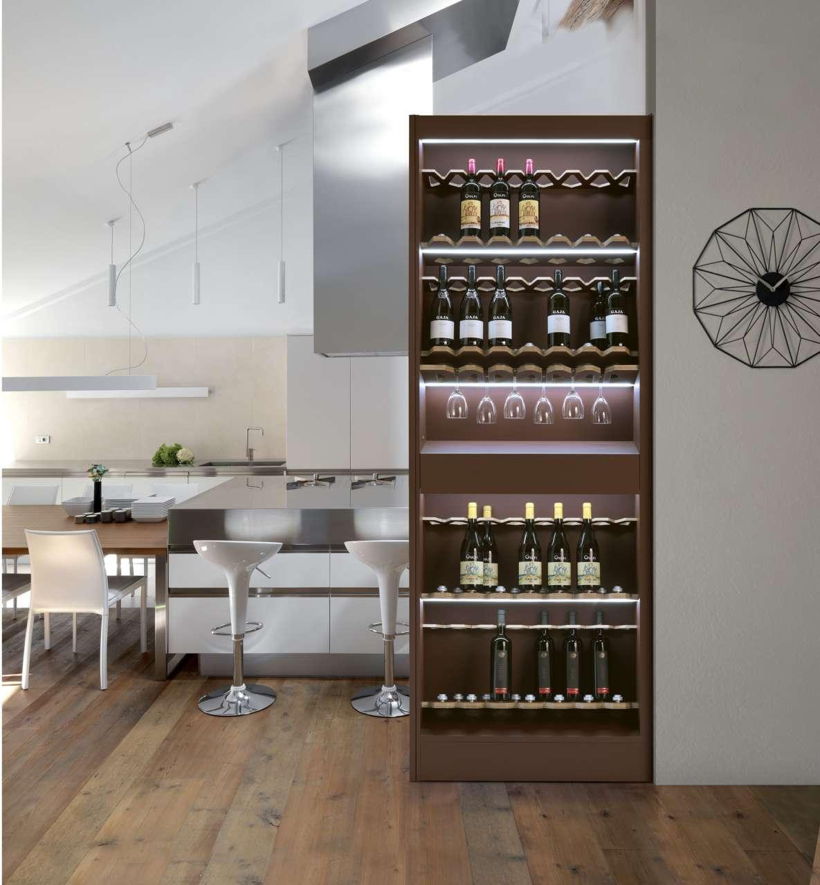 Cucine A Muro Foto bigfoot®, i complementi d'arredo a scomparsa nella parete