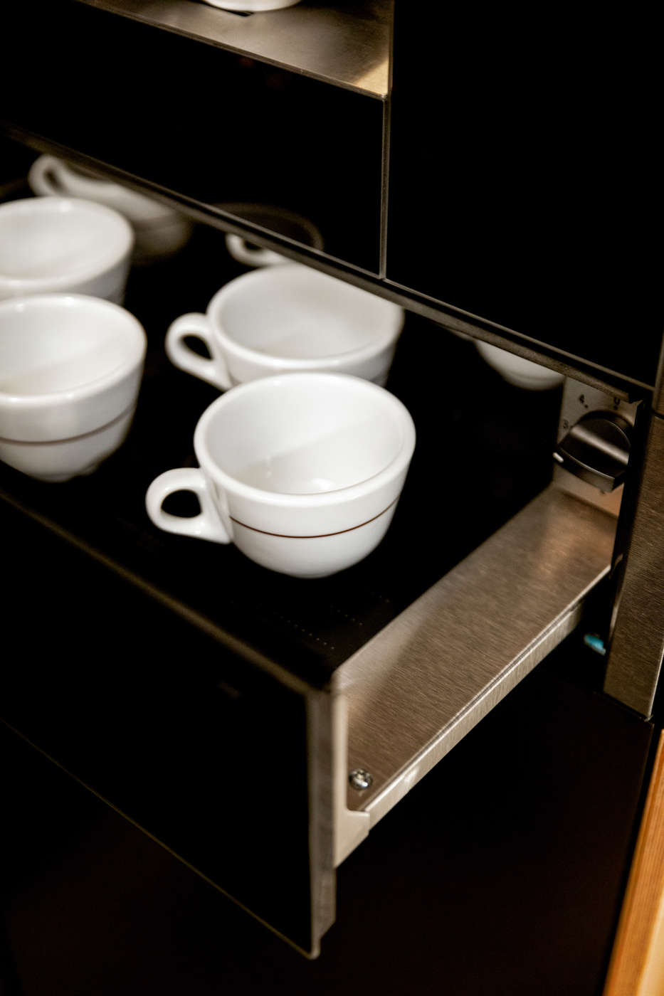 Neff dettaglio macchina caffè Graphite Grey